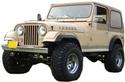 Jeep CJ7 Fiberglass Body Complete Kit