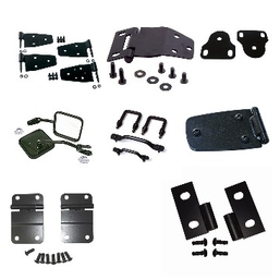 Jeep Black Powder Coated Accessories