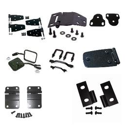 Jeep Black Powder Coated Accessories