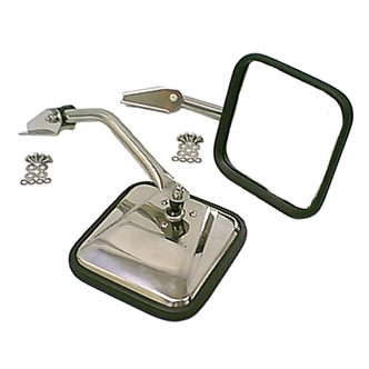 Jeep Stainless Steel Mirror Kit