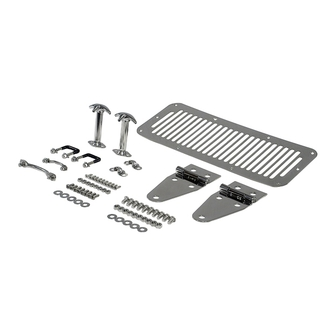 Jeep Stainless Steel Deluxe Decor Hood Set