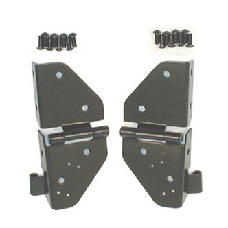 Jeep Windshield Hinges (Fits all Jeep CJ's and Wranglers 1976 and Newer) Black