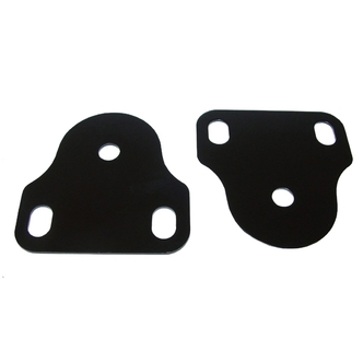 Jeep Black Interior Windshield Brackets (Fits Wranglers and CJ7's 1976 and Newer)