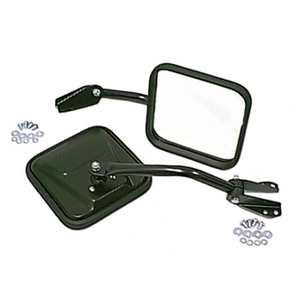 Jeep Black Mirror Kit (Fits all CJ's 1955 to 1986)