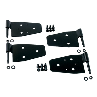 Jeep Black Hardtop Door Hinges (Fits all CJ's, Scramblers and Wranglers)