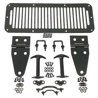 Jeep Black Deluxe Decor Hood Set