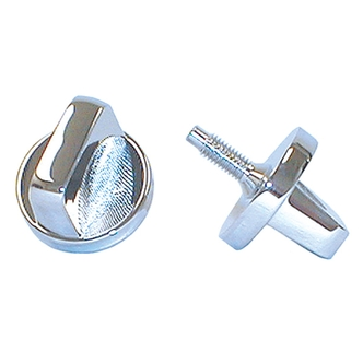Jeep Interior Windshield Knob (Chrome)