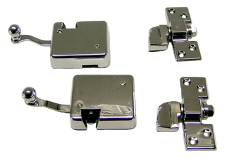 29 A Roadster Replica Door & Trunk Latches, Hood Latches and Mirrors