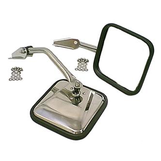 Jeep Stainless Steel Mirror Kit