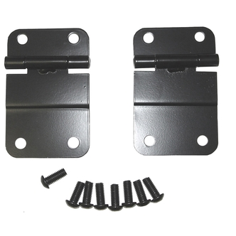 Jeep Black Lower Tailgate Hinges (Fits all Scramblers and CJ's 1976 to 1986)