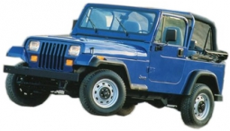 Jeep YJ and Wrangler Fiberglass Body, Complete Kit 1987 thru 1995