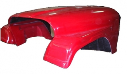 Fiberglass One Piece Front End for Jeep CJ8 and Scrambler