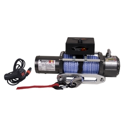 Rugged Ridge Heavy Duty 10,500 LB Synthetic Rope Winch